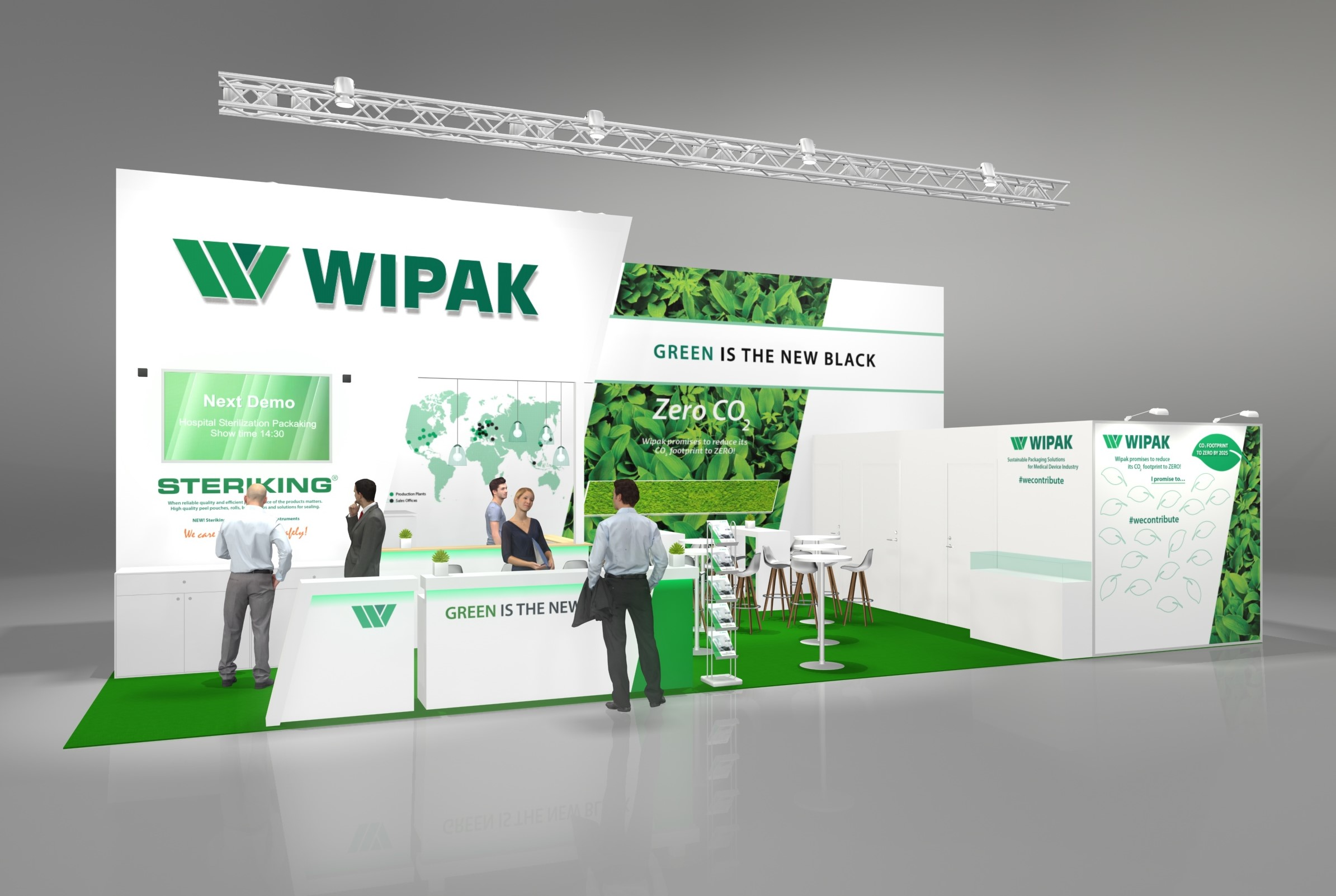 Compamed 2019 stand with Wipak stuff